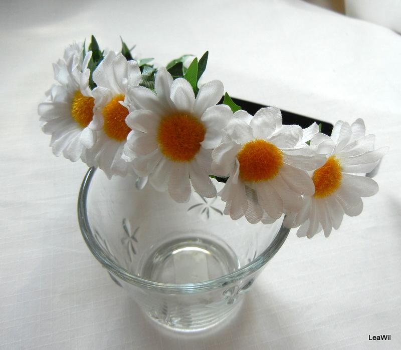 Čelenka květinová kopretinová  cd3d2c68be